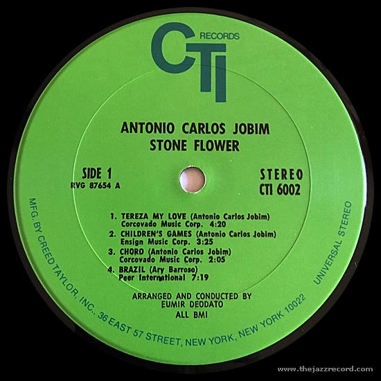 Antonio Carlos Jobim - Stone Flower - Vinyl Label