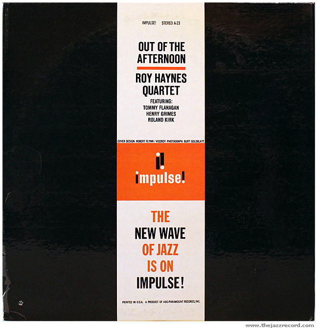 Roy Haynes Quartet - Out OF The Afternoon - Back Cover Vinyl