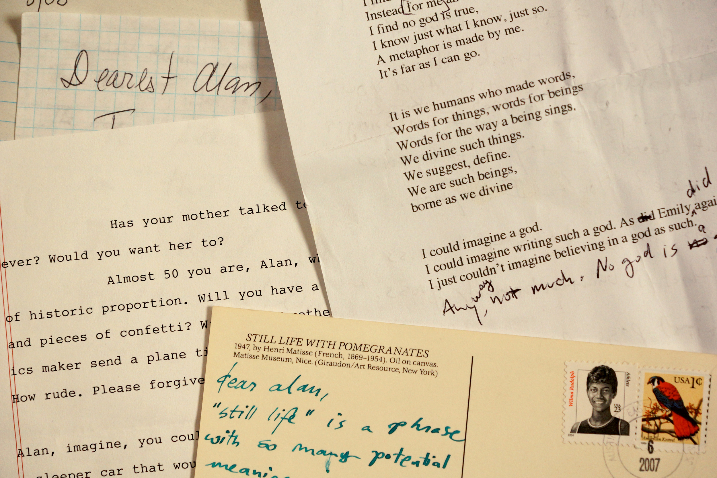Poet-to-Poet: A Friendship in Exquisite Letters