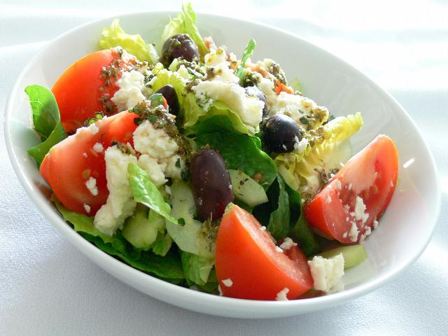Greek Salad from the meal planning menu