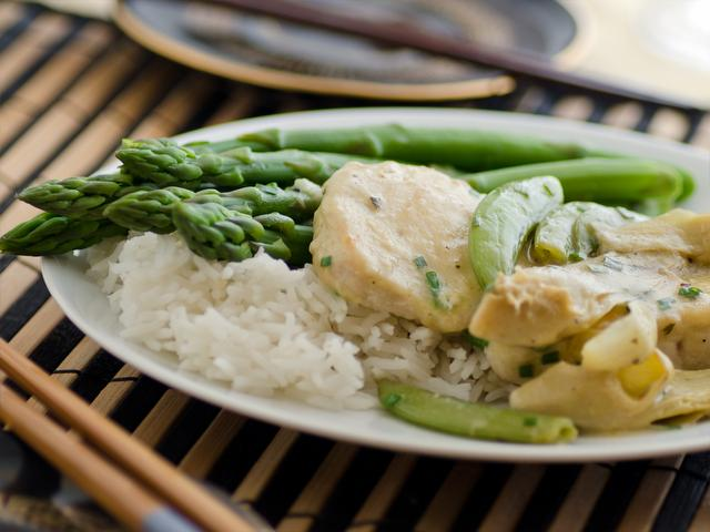 Chicken with Sugar Snap Peas and Asparagus from the meal planning menu