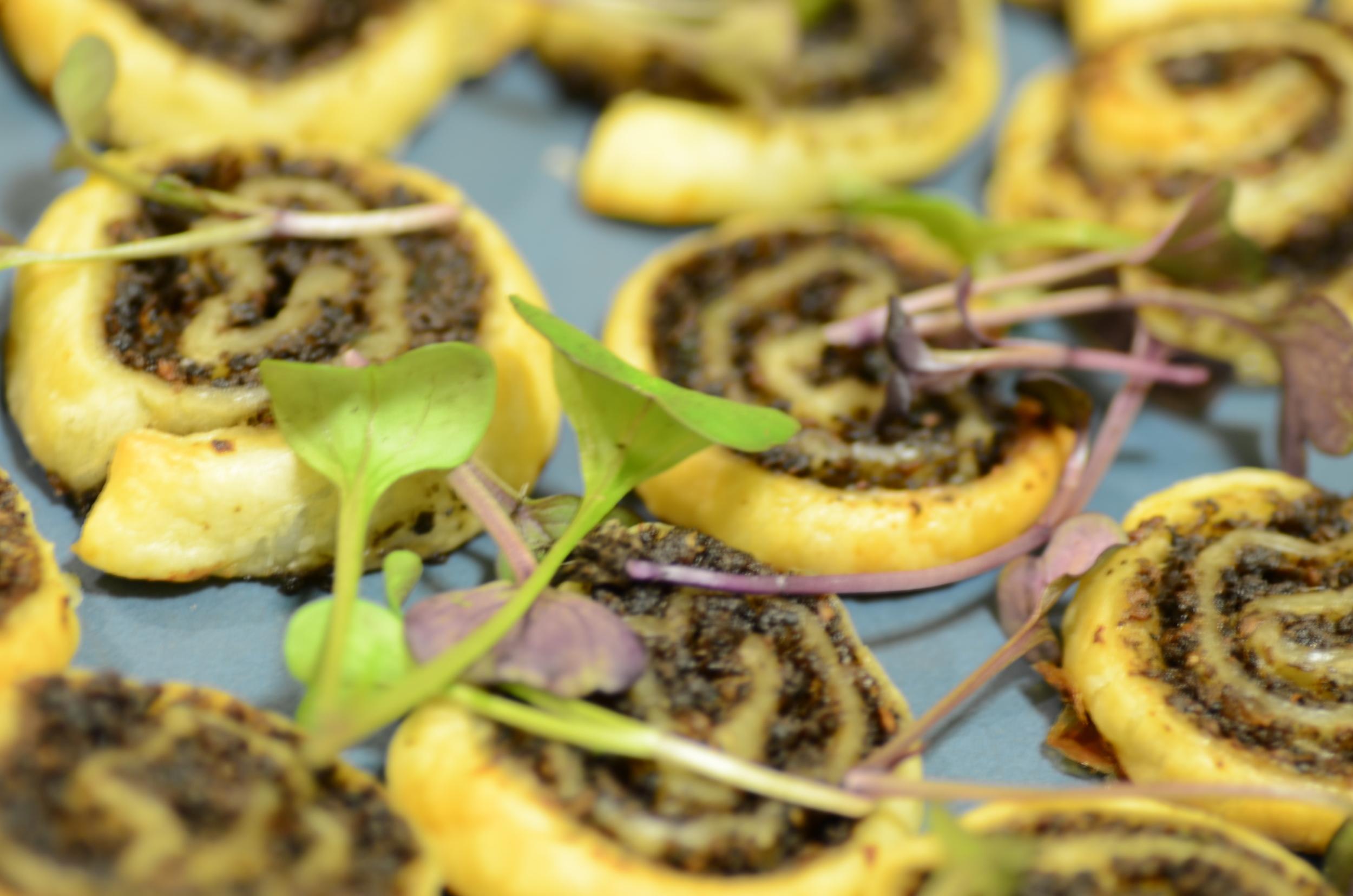 Mushroom, Puff Pastry Pinwheels