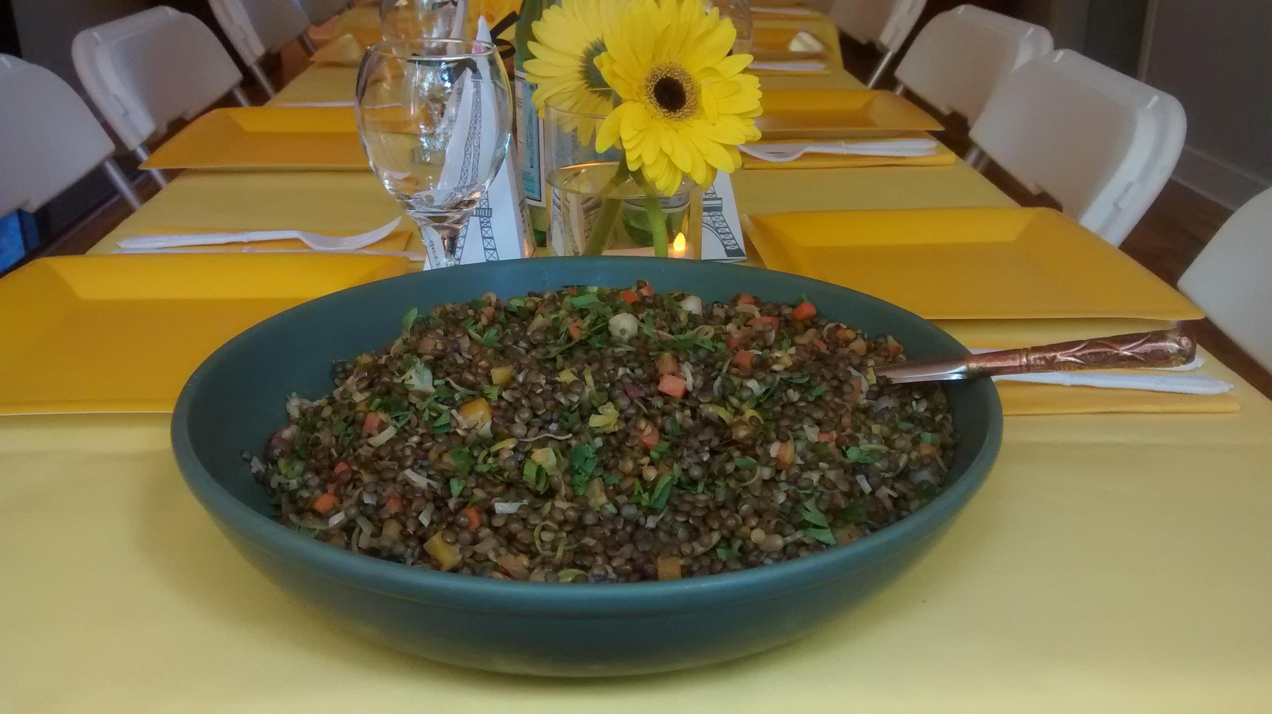 Puy lentil salad with Dijon dressing