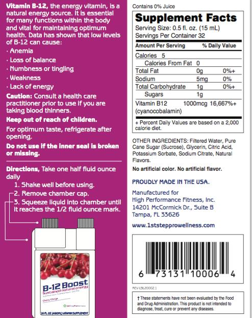 1st Step ProWellness B12 Boost Cherry