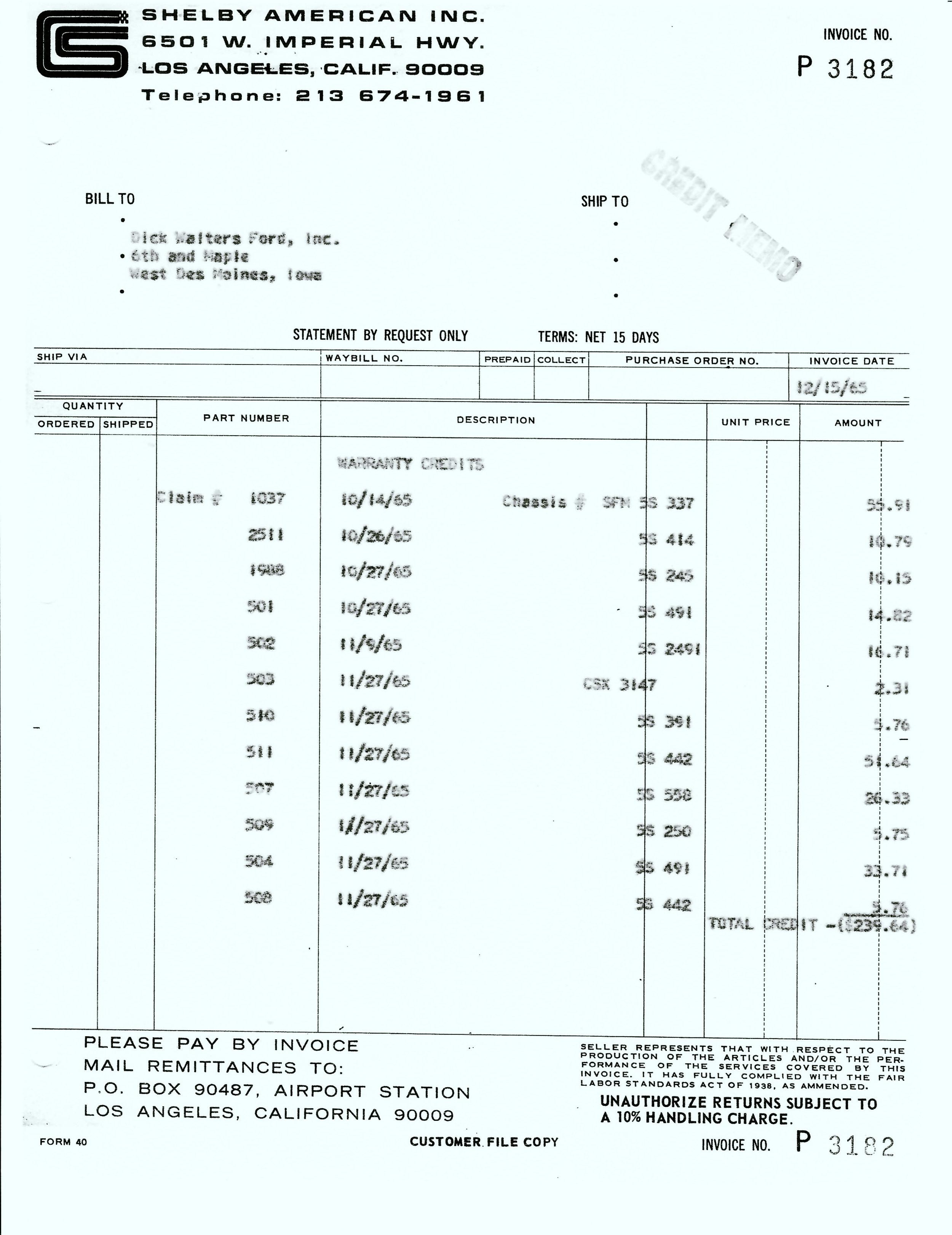 1965 12-15 SAAC Invoice P3182 Credit Memo.jpeg