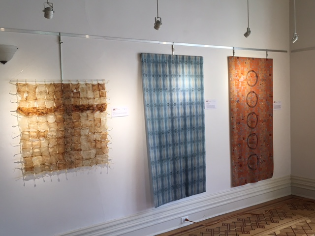 """My piece is the one at far right, """"Circular Recursion #1"""" (credit: Barbara Schneider)"""