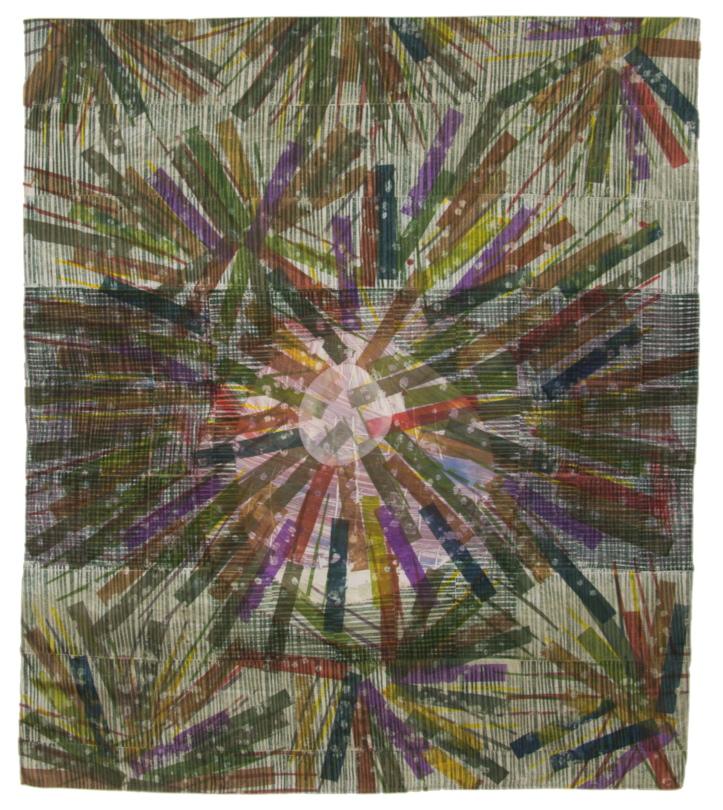 """Focal Point"" on display at the San Jose Museum of Quilts and Textiles through Jan 15, 2017"
