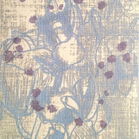 Pigment print on linen