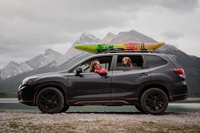 I am super excited to announce that I have partnered with @SubaruCanada for the summer! We will be embarking on one epic #SubaruRoadTrip after another to share training for the 2020 Games qualifications, outdoor adventures and good times in the 2019 Forester. Stay tuned for awesome stories to come! 📸: @LyndsayGreenwood . . . . #SubaruForester #SubaruCanada #MountainGirls #SkokiAdventures #MountainStories #CanadianAdventures #PaddleCanada #WePaddle #CanadaWater #EnjoyCanada #TourCanada #RockyMountains  #CanadianRockies #SprayLakes #CanmoreLife #BowValley #KananaskisCountry #DogsOfCanada