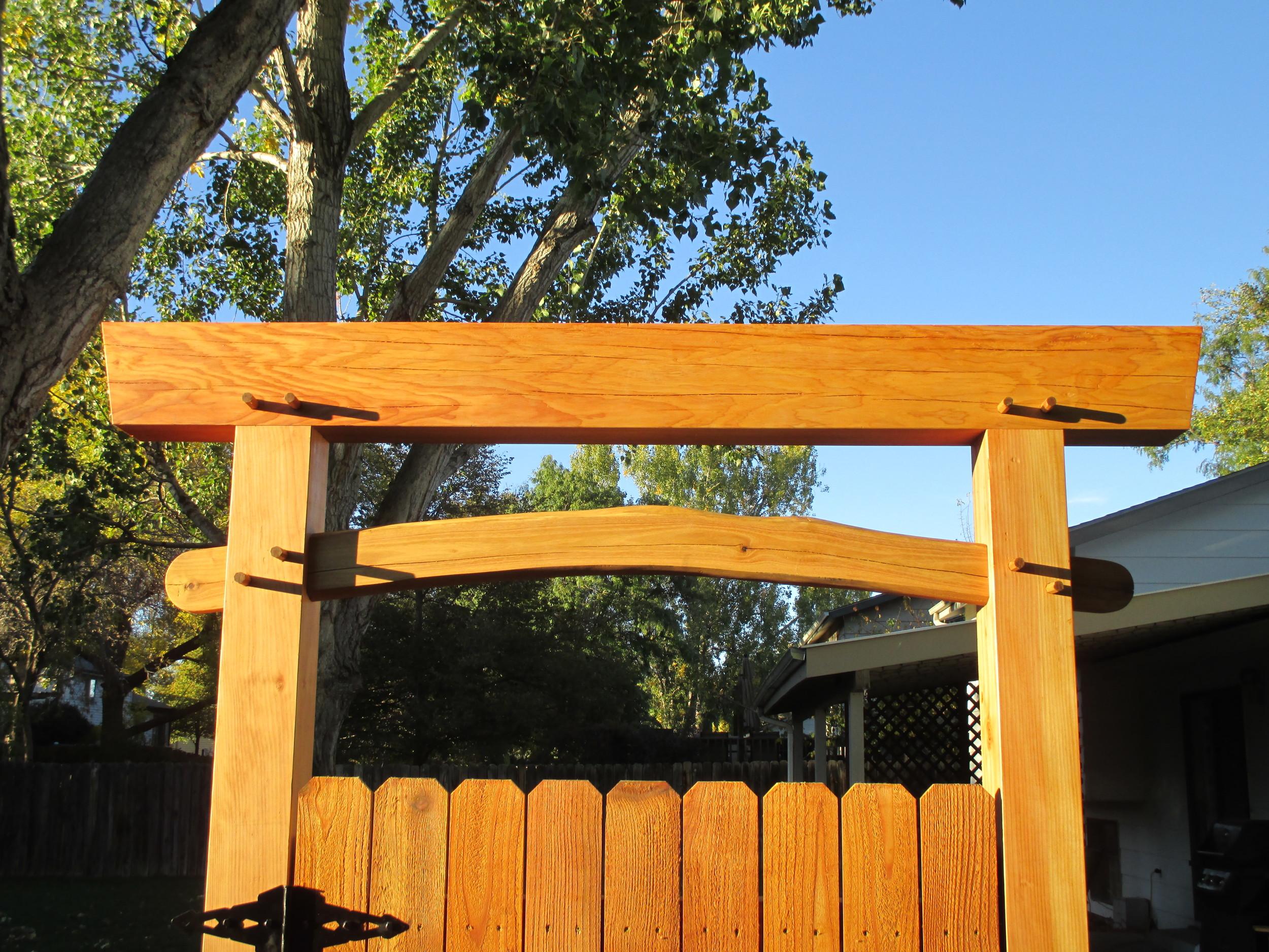 Timber Frame Gate Entry