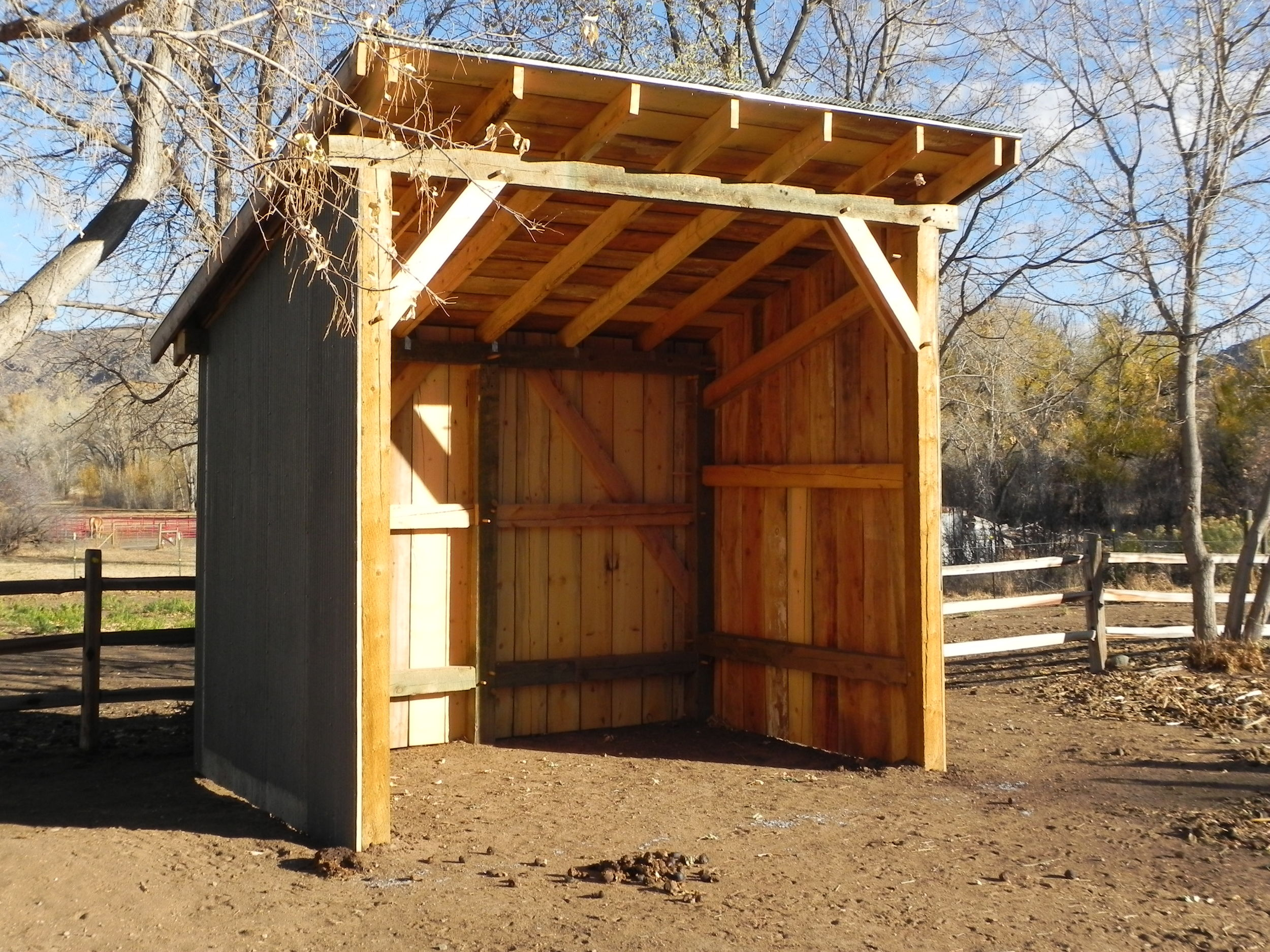 Timber Frame Horse Shelter
