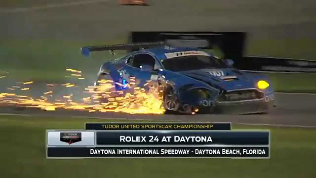 Aston Marton Crash - Daytona 2015