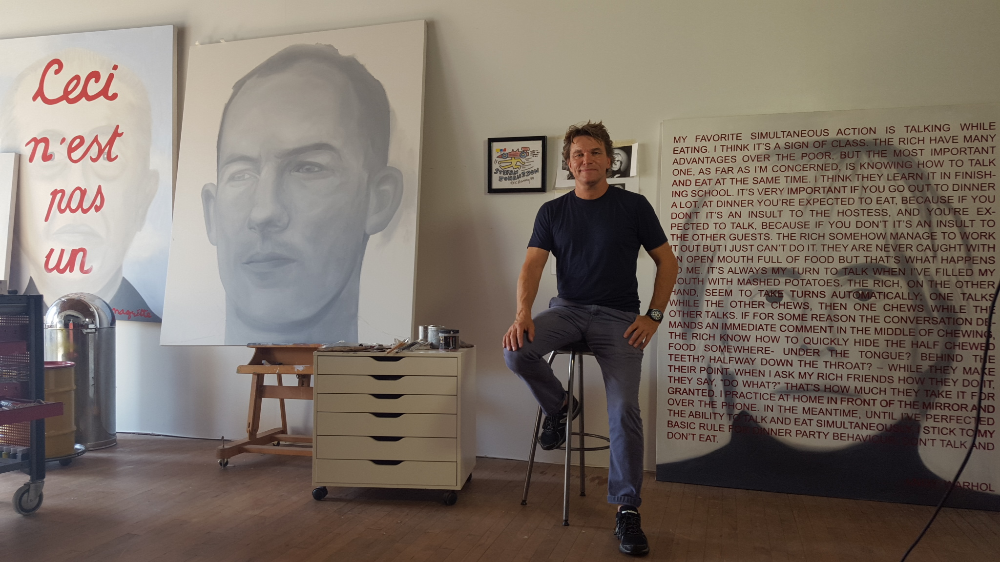 Stefan Johansson in his Los Angeles studio, September 2015
