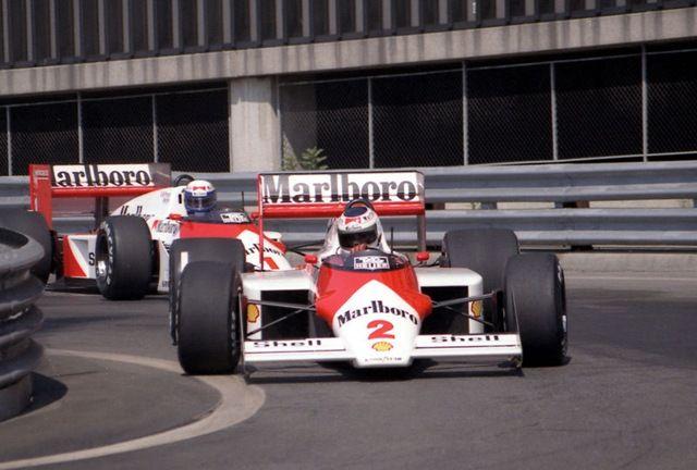 Stefan Johansson (1) & Alain Prost (2) / McLaren F1 - Detroit 1987
