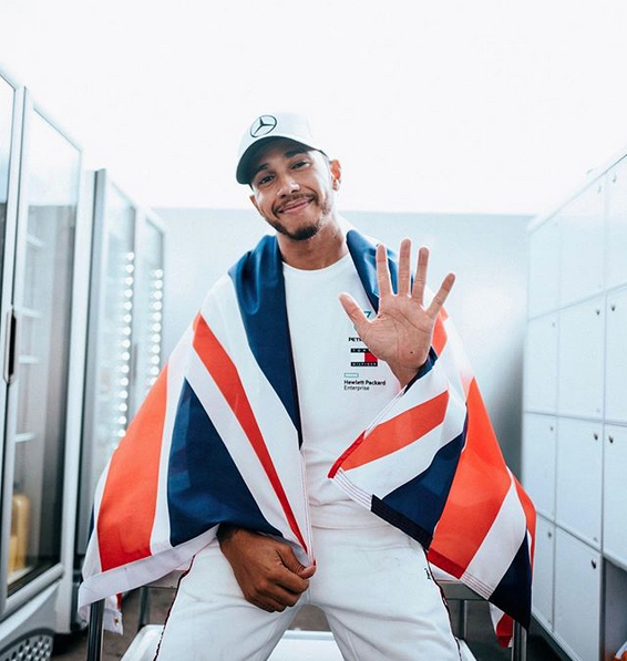 Photo via:  @LewisHamilton