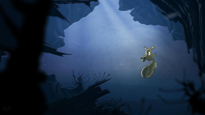 Sea Horse Digital Painting
