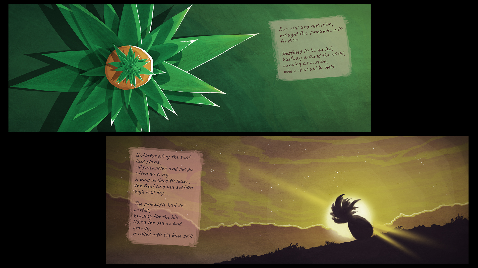Art Boards 'Pineapple and The Pufferfish