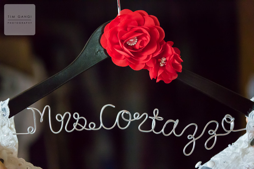 A personalized bridal hanger is always a good idea!
