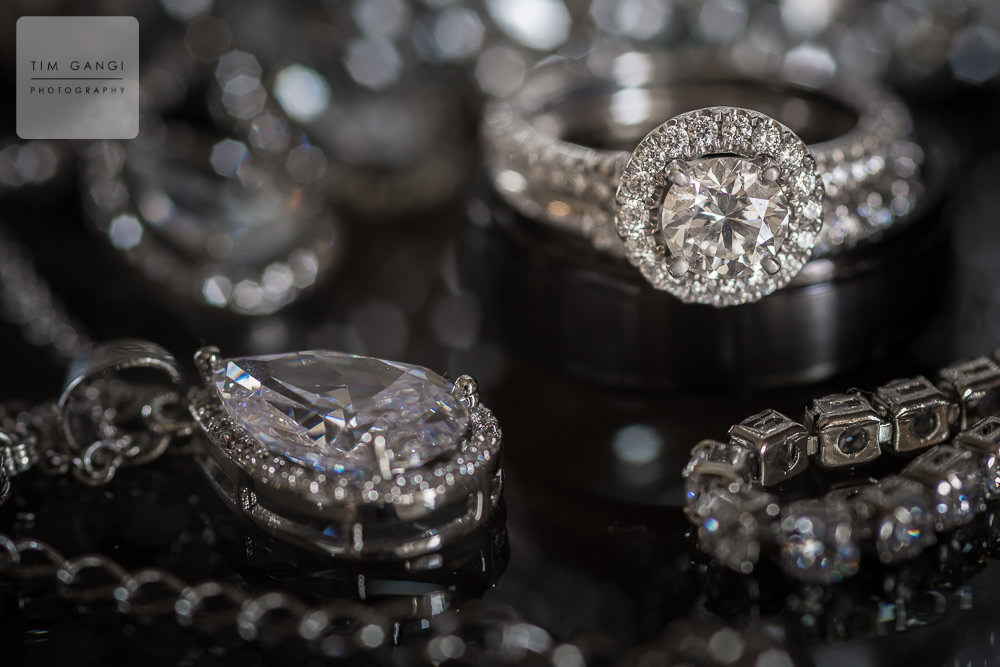 Bling bling! Ashley's wedding details are on point.