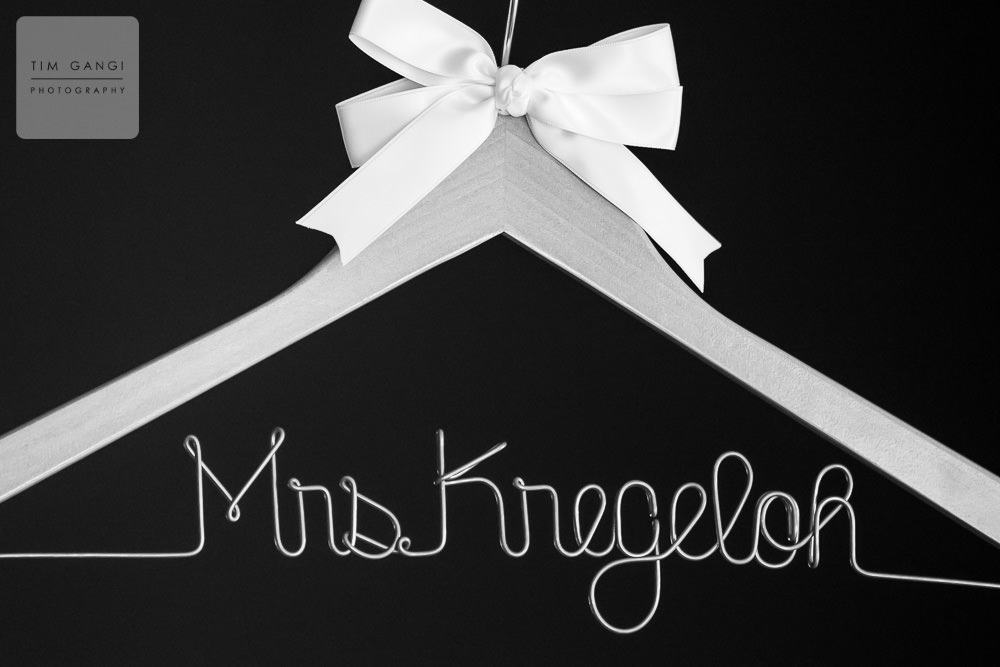 Personalized wedding hangers are always a good idea :)