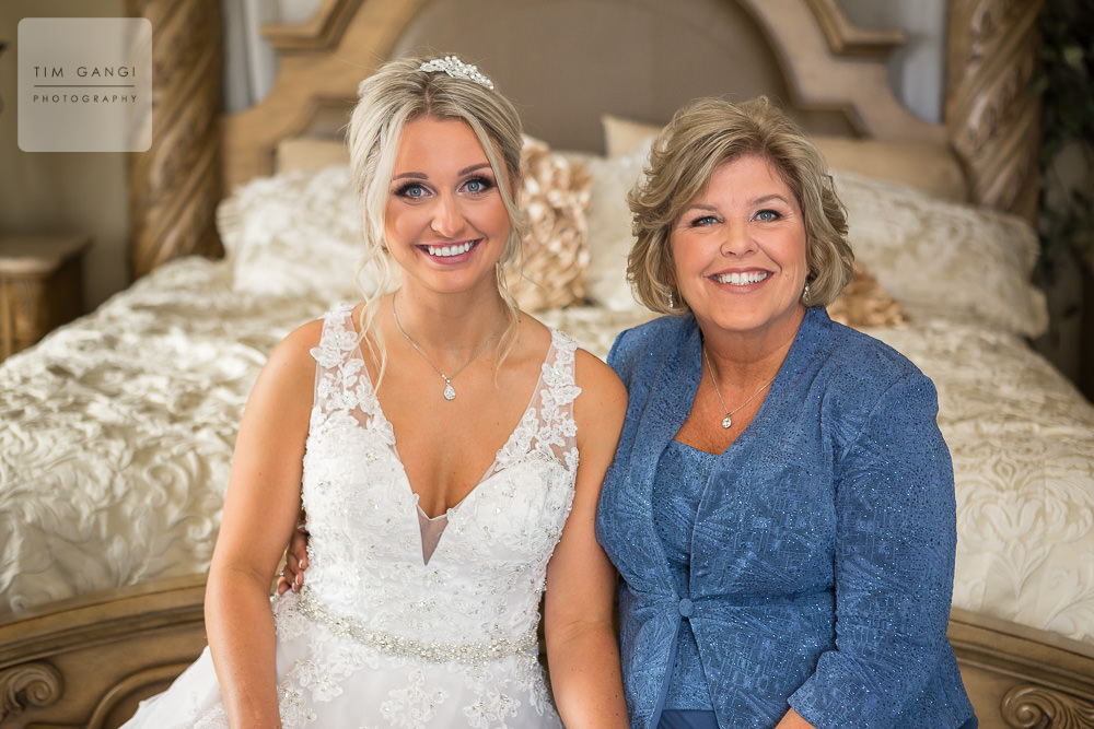 Ashley and her mom looking radiant before the ceremony.