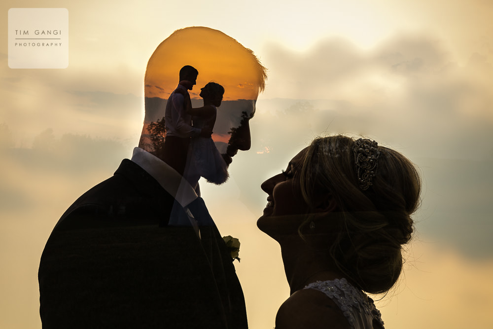We just couldn't resist a creative shot during such a beautiful sunset!