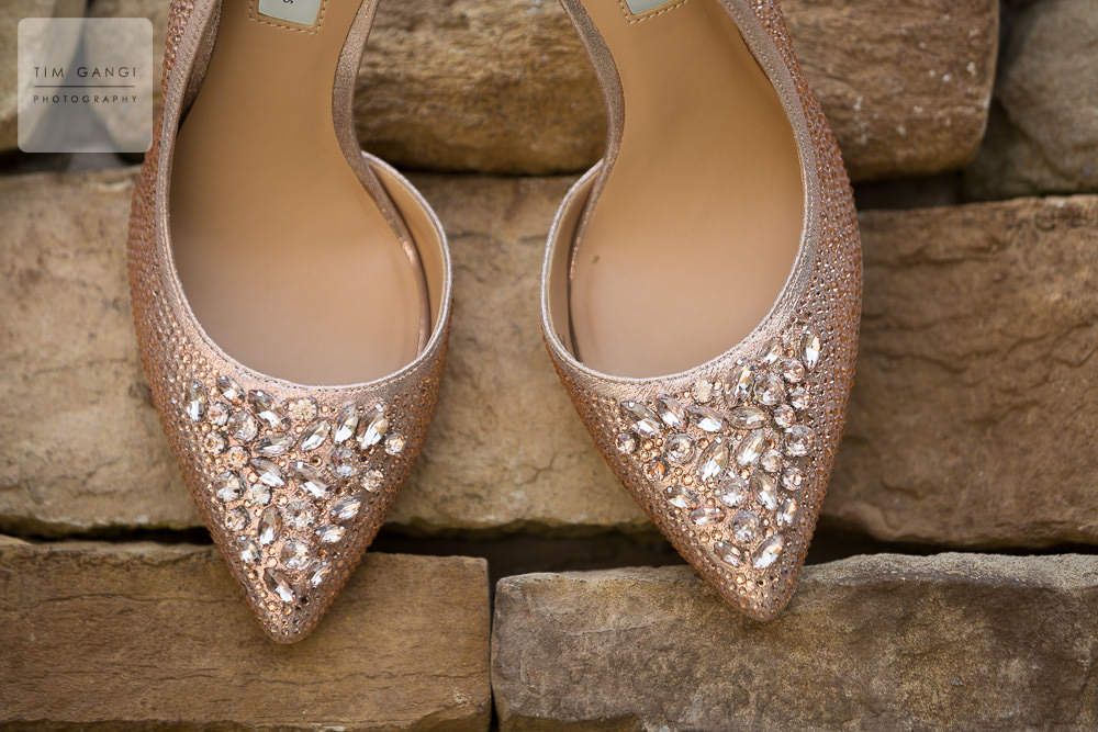 We love how Sherri's sparkly heels are juxtaposed against the stone wall.