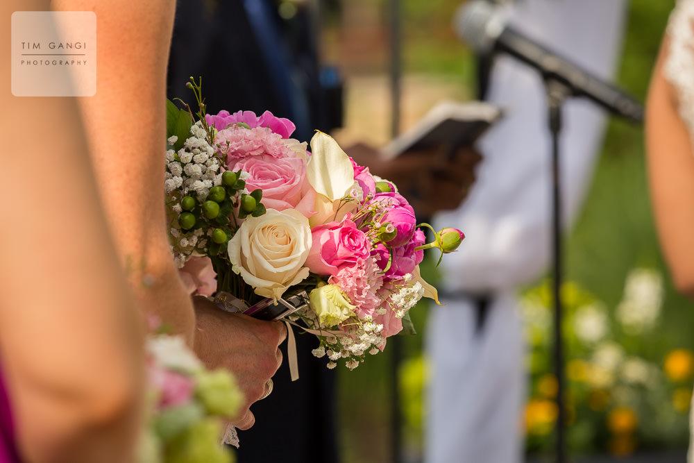A heartfelt bible verse and beautiful bouquet.