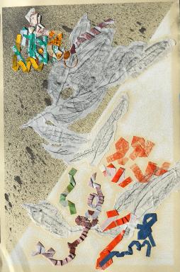 Closinginona 2, 24 x 31, mixed media collage on paper, 2010.