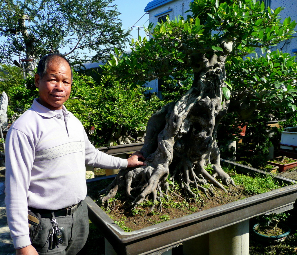 Master Ji with Prince and Showgirl tree.