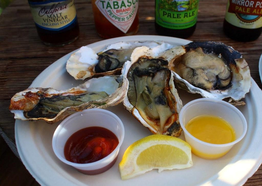 Bolinas Bay BBQ oysters