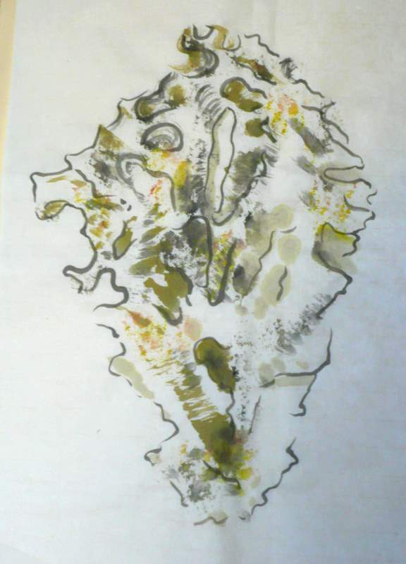 Drawing of rock