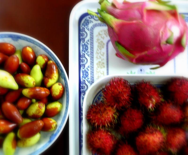 Jujube, Dragon fruit, Rhambutan