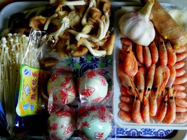 food still life with shrimp