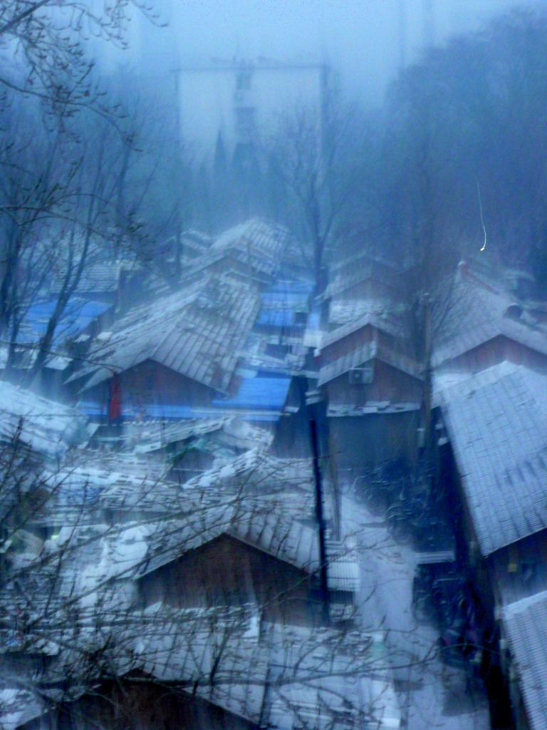 snowy hutong