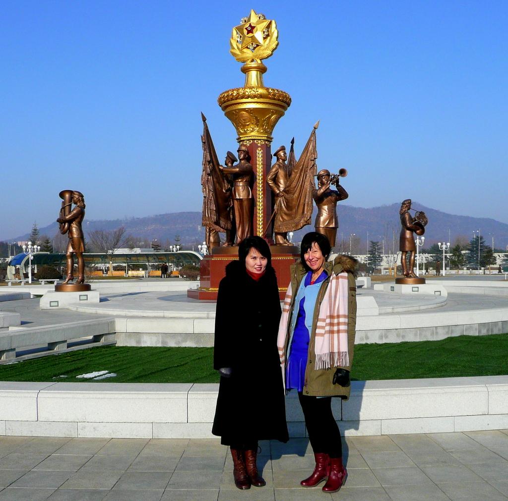 At the Kumsusan Memorial Palace of the Sun