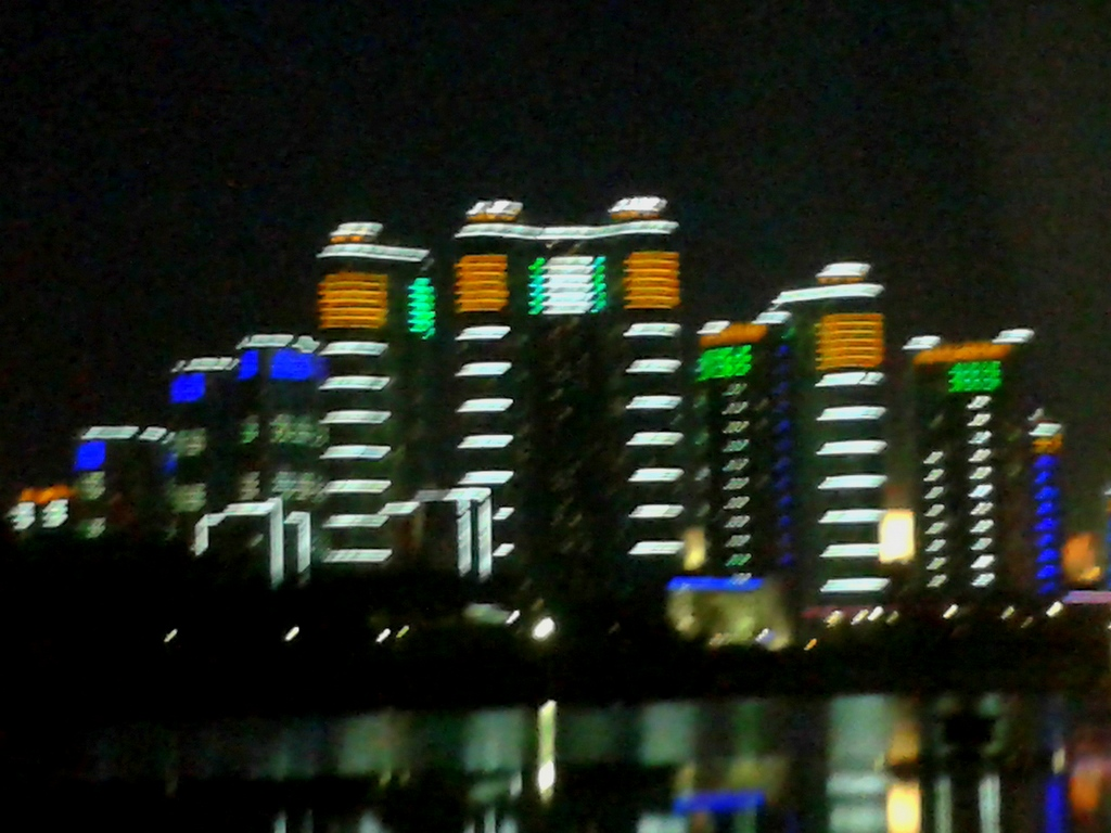 Night view on Dadong River