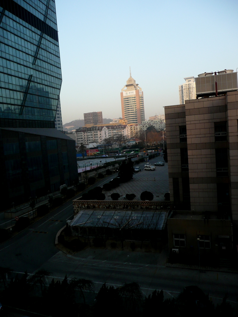 View from my room Hanting Hotel Wusi Square Qingdao