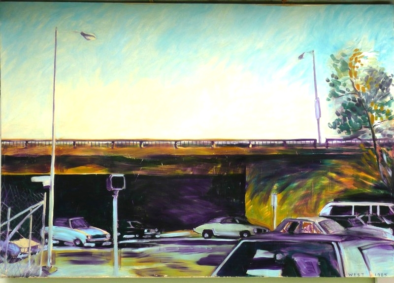 Sepulveda Boulevard, Los Angeles, 78 x 54 inches,  1985, Cheryl Petty