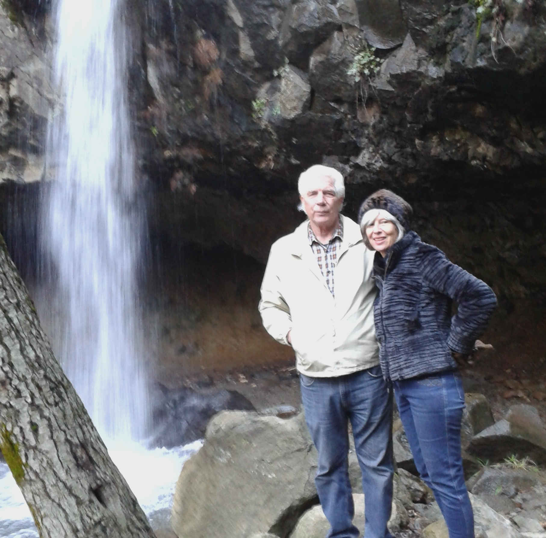No snow but plenty cold at Hedge Creek Falls.