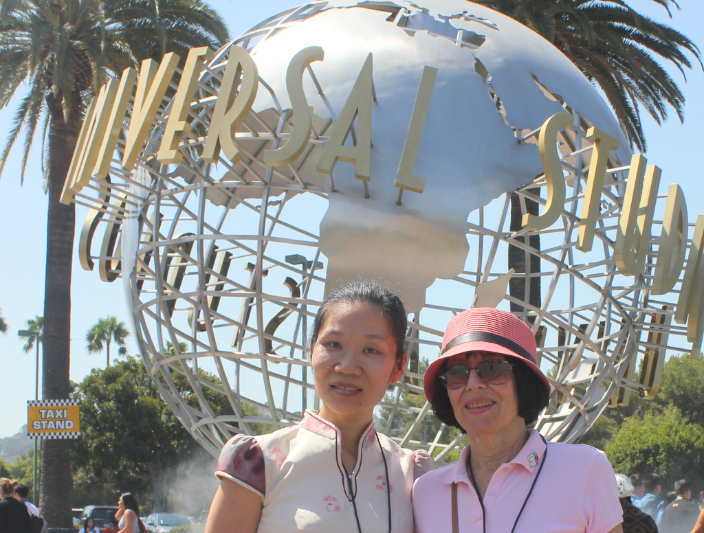 In July 2012, Feng visited California.  Here we are at Universal Studios.   See my blog post.