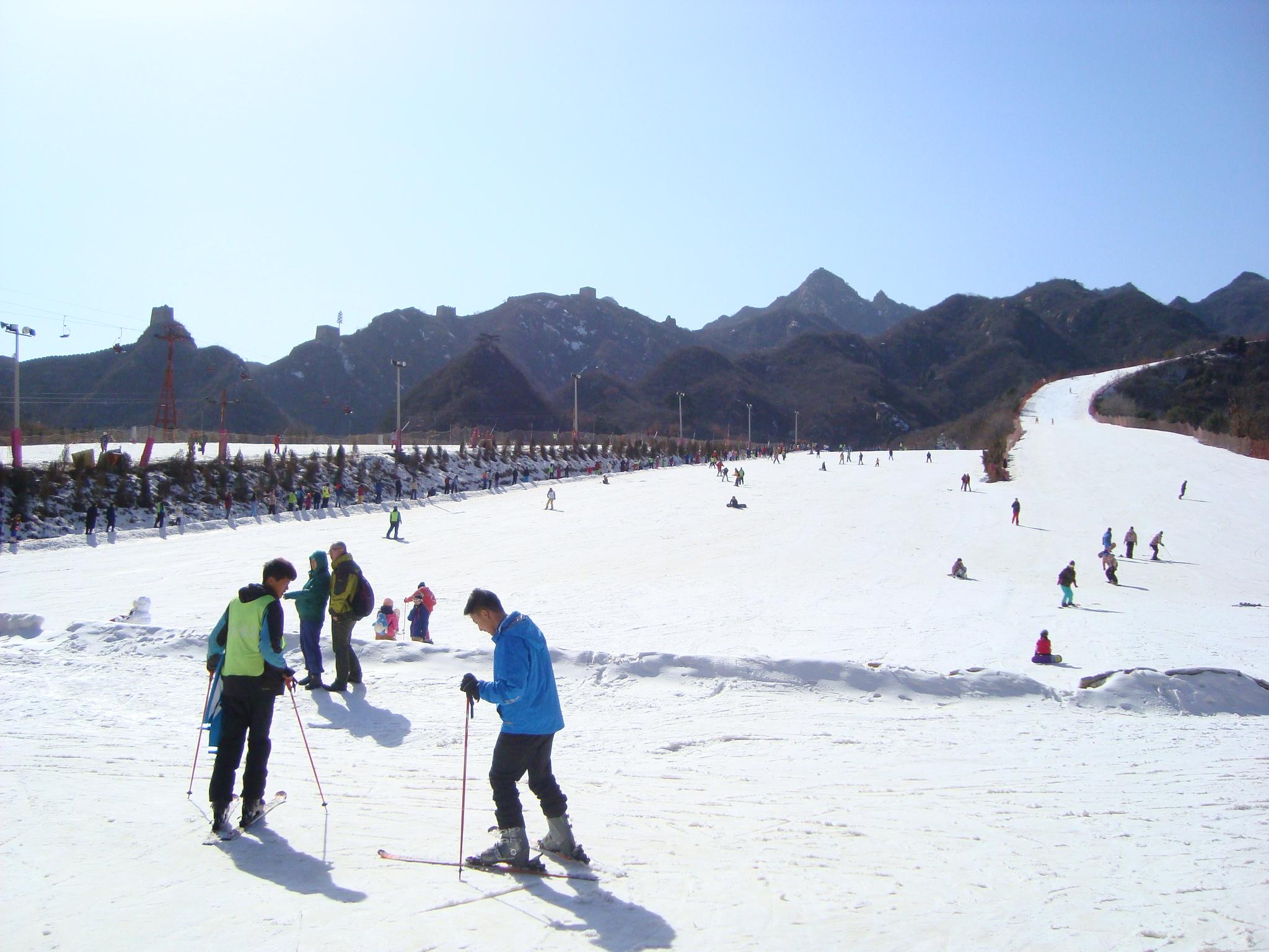 Skiing at Great Wall