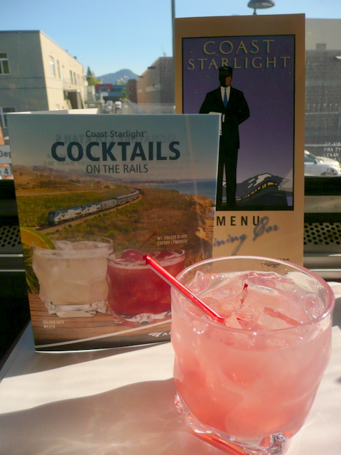 Mt Shasta Black Cherry Lemonade as we pass the station in Eugene. Yum!