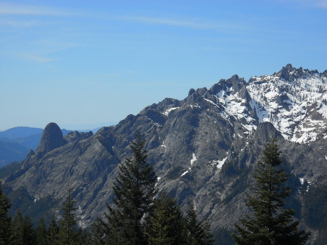 Back side of Castle Crags, Dome, looking south.