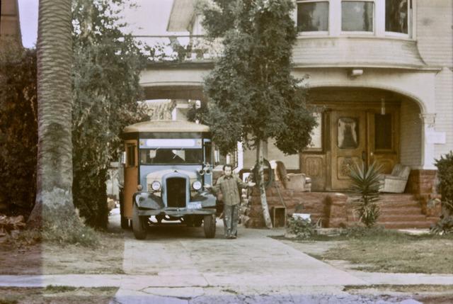Billy's bus at Ellis Island Los Angeles 1975