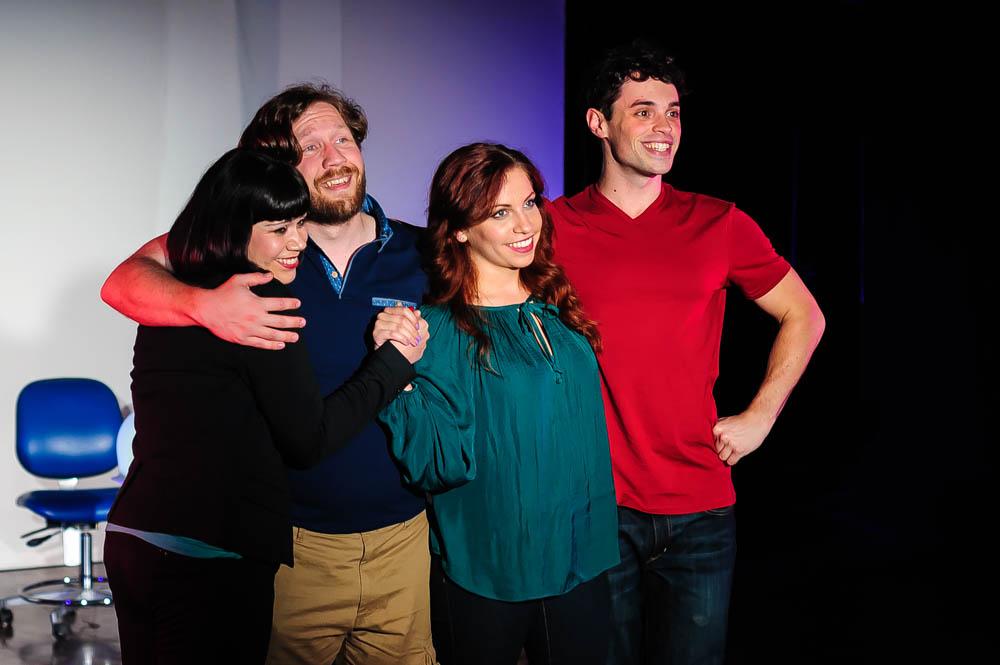 L to R: Deya Ozburn (Susan), Zach Sanders (Hunter), Amanda Norman (Heidi), and Joel Domenico (Jeff).