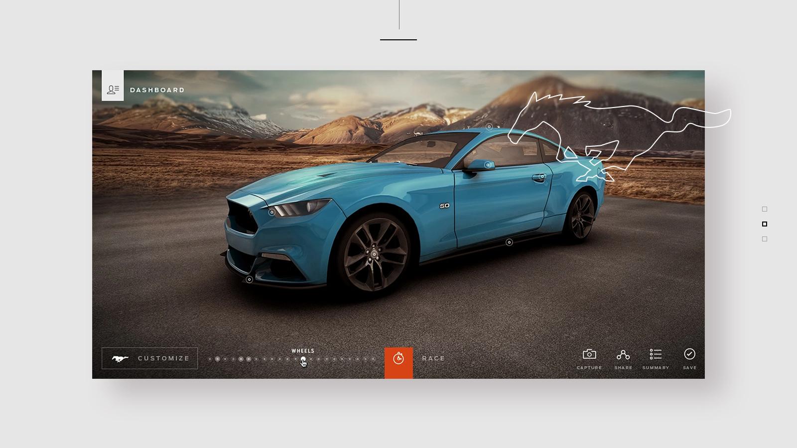 Mustang Customizer - WebGL 3D experience
