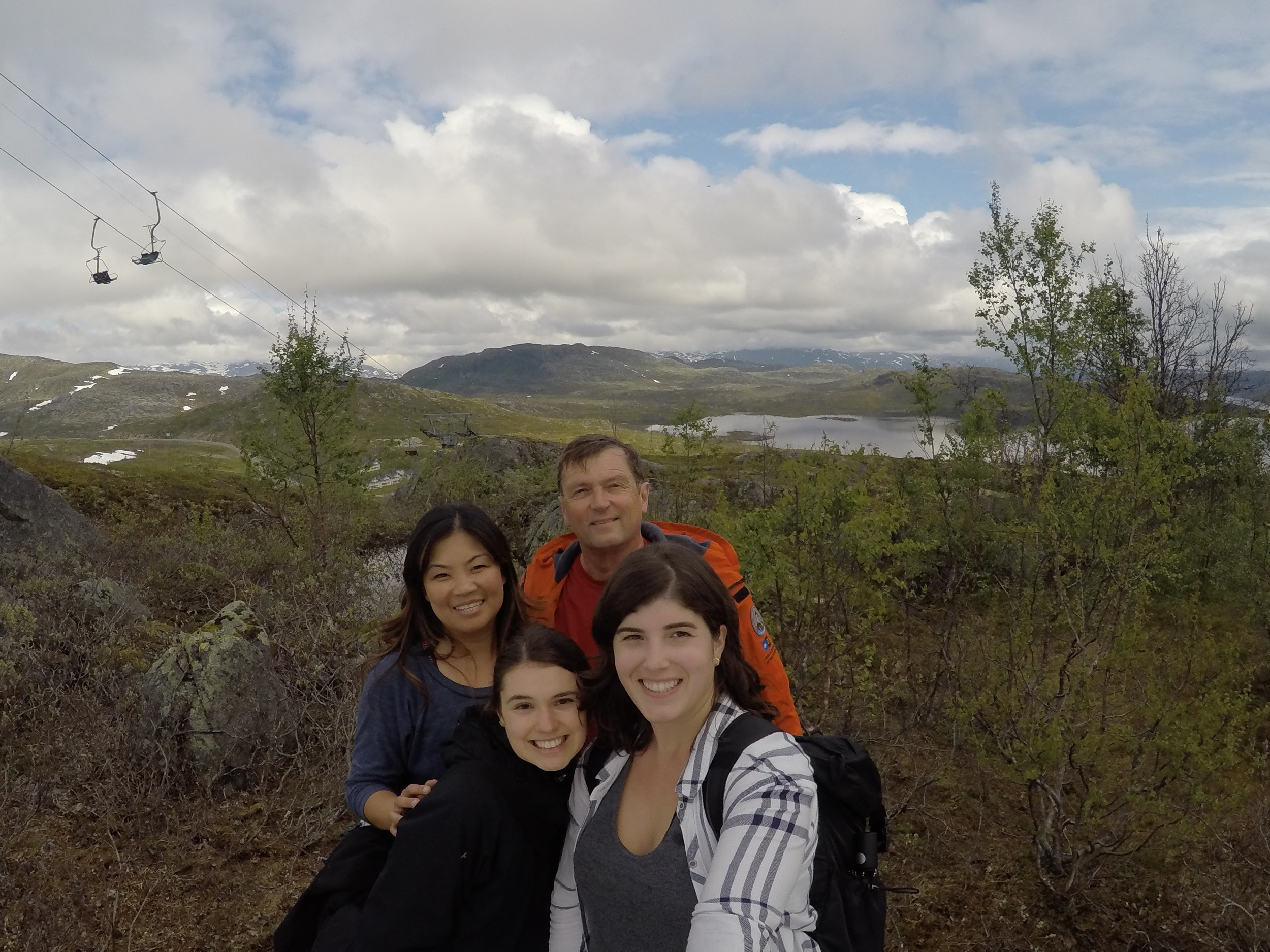 Grace, Ed, Sarah and me in Riksgränsen