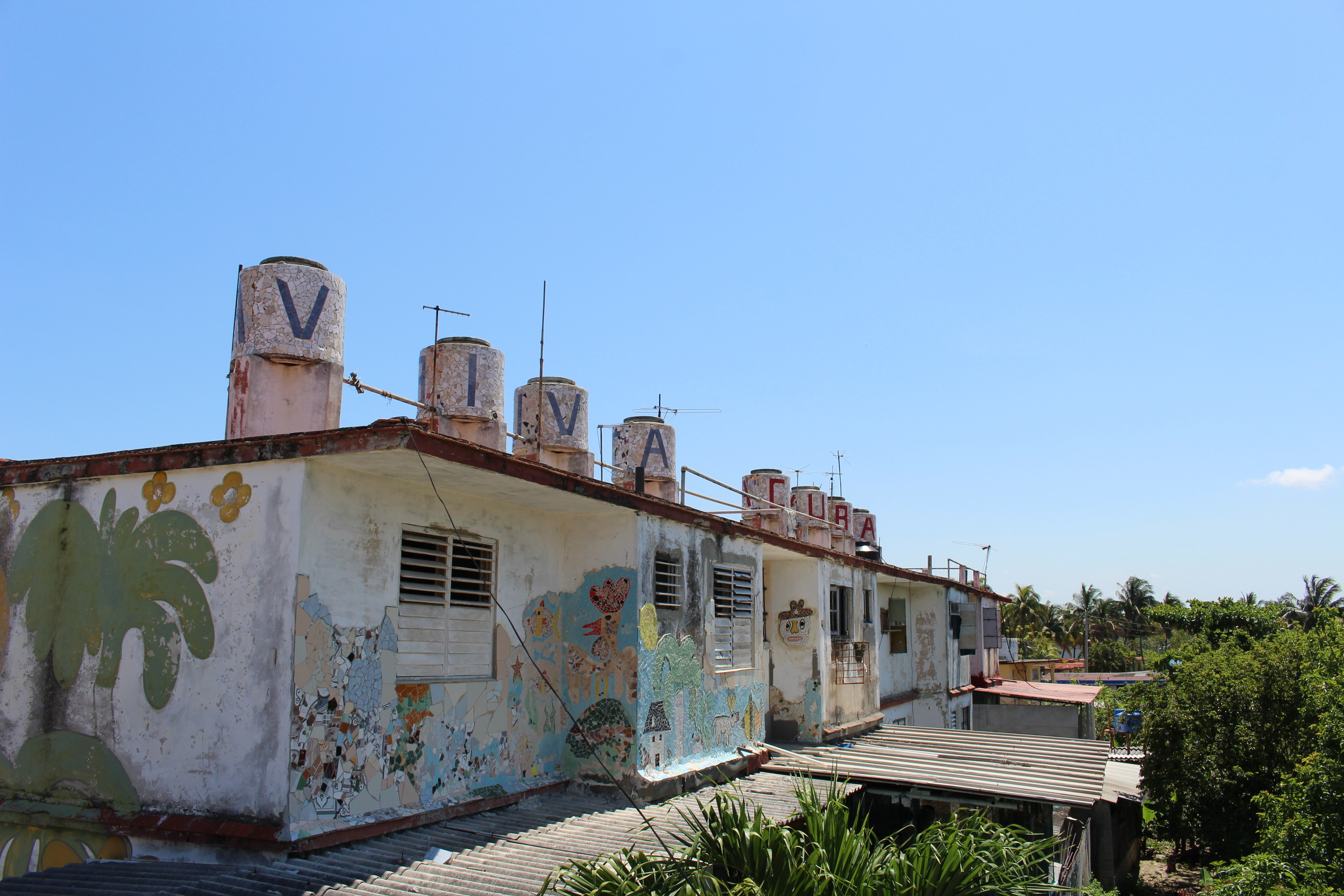 Jose Fuster ran out of room in his own house and started putting his art throughout the whole neighborhood.