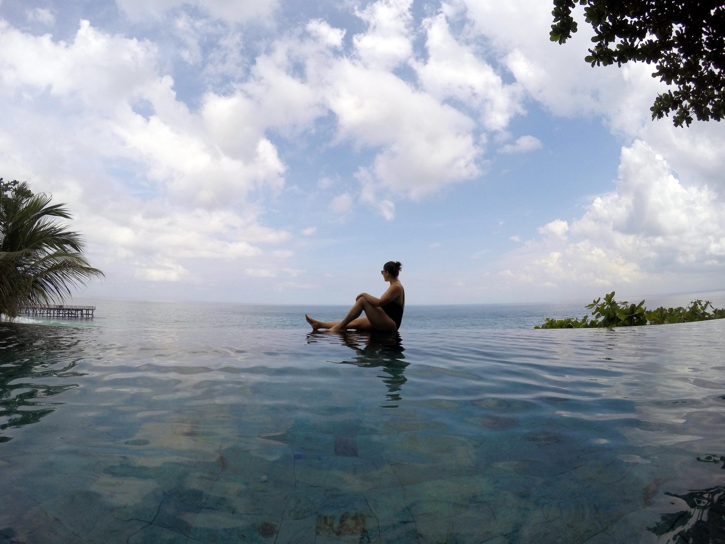 Enjoying the view of the coast in Jimbaran